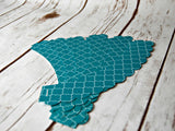 Spanish Tile Cupcake Decorations, Reversible Cake Wraps, Aqua Cupcake Wrappers (set of 6) - We Bring the Party - 3