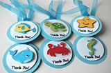 Under the Sea Birthday Party Favor Tags set of 12 - We Bring the Party - 3