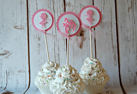 Ballet Silhouette Cupcake Toppers (set of 12) - We Bring the Party