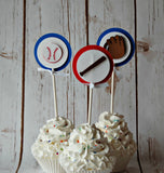 Baseball Party Cupcake Toppers (set of 12) - We Bring the Party - 1