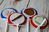 Baseball Party Cupcake Toppers (set of 12) - We Bring the Party - 2
