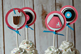 Sock Hop Birthday Party Cupcake Toppers (set of 12) - We Bring the Party - 2