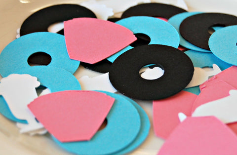 50s Theme Birthday Party Confetti, Sock Hop Party Decorations (100 pieces) - We Bring the Party - 1