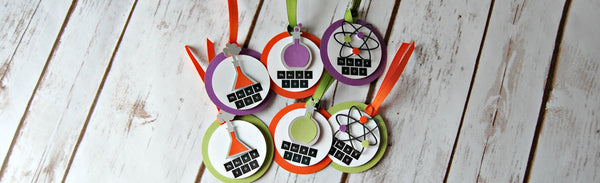 Science Theme Party Favor Tags  (set of 12) - We Bring the Party