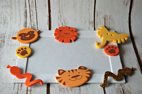 Zoo Themed Photo Frame Craft Kit - We Bring the Party