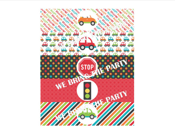 Cars Party Water Bottle Labels - We Bring the Party