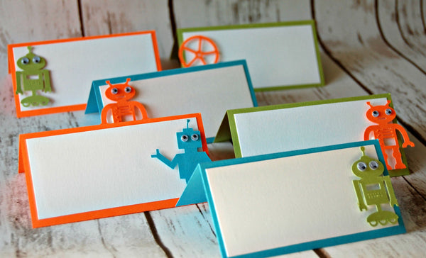 Robot Themed Party Name Tags (set of 6) - We Bring the Party - 1