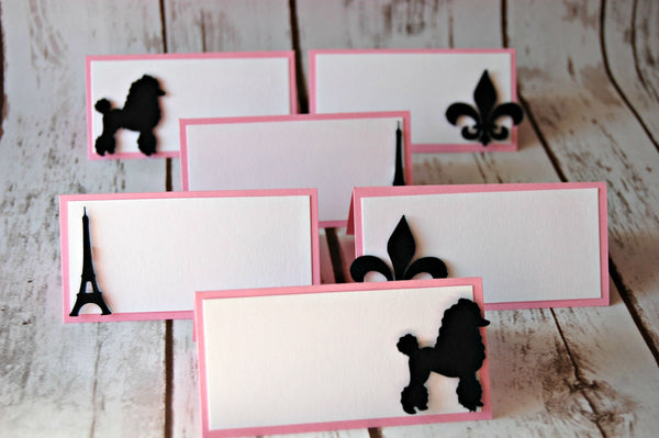 Paris Themed Party Name Tags (set of 6) - We Bring the Party - 1