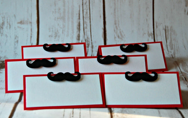 Mustache Themed Party Name Tags (set of 6) - We Bring the Party