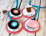 Sock Hop Birthday Party Favor Tags (set of 12) - We Bring the Party - 1