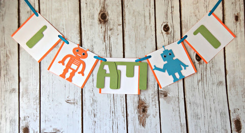 Robot Themed Party Mini Banner - We Bring the Party