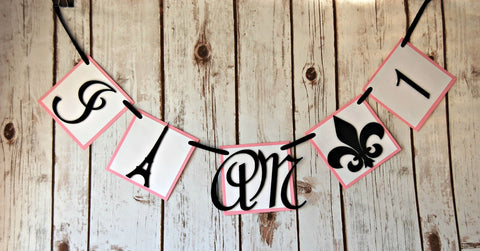 Paris Themed Birthday Party Mini Banner - We Bring the Party