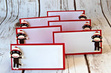 Sock Monkey Party Food Name Tags (set of 6) - We Bring the Party - 1