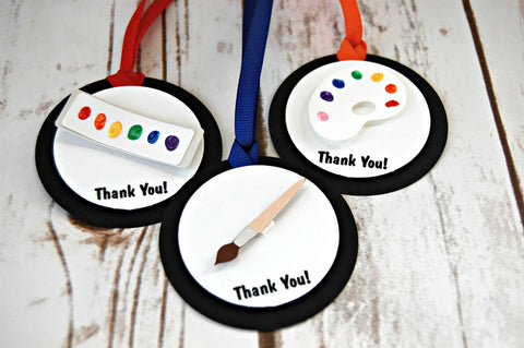 Little Artist Birthday Party Favor Tags (set of 12) - We Bring the Party