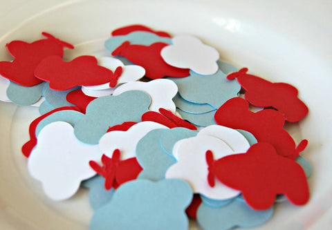 Airplane Cloud Birthday Party Confetti (100 pieces) - We Bring the Party - 1