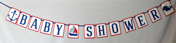Sailing Baby Shower Banner - We Bring the Party - 1