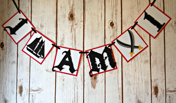 Pirate Mini High Chair Party Banner