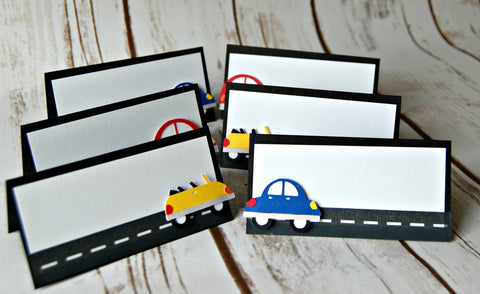 Cars Birthday Buffet Name Tags (Set of 6)