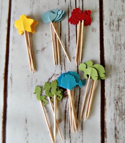 Under the Sea Party Picks (Set of 24)