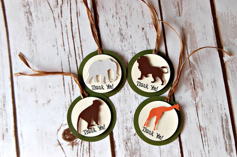 Zoo Sillouette Favor Tags (12pc)