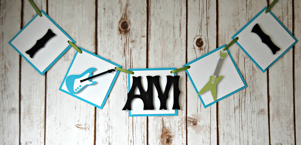 Rock n Roll Party Mini Banner (I am 1) - We Bring the Party