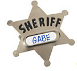 Metal Sheriff's Badge (Cowboy/Cowgirl Party Favor)