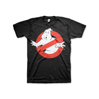 Ghostbusters Distressed Logo 3XL, 4XL, 5XL Mens T-Shirt (Black)