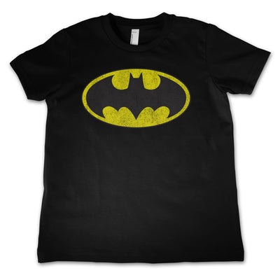 Batman Distressed Logo Unisex Kids T-Shirt (Black)