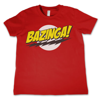 Bazinga Super Logo Unisex Kids T-Shirt (Red)