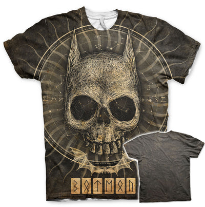 Batman Gothic Skull Allover Printed T-Shirt