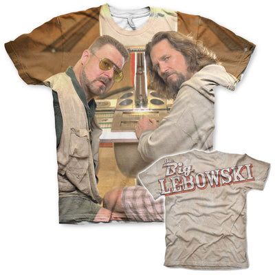 The Big Lebowski Allover Printed T-Shirt (Multicoloured)