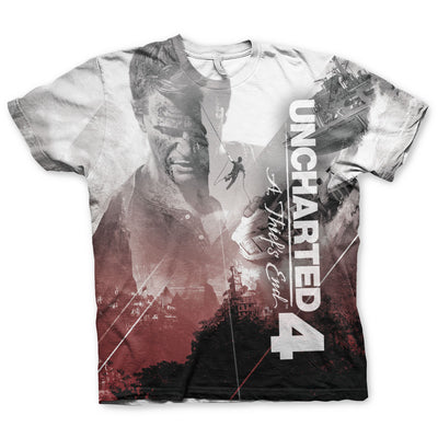 Uncharted Allover T-Shirt (Multicoloured)