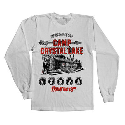 Friday The 13th- Camp Crystal Lake Long Sleeve T-Shirt (White)