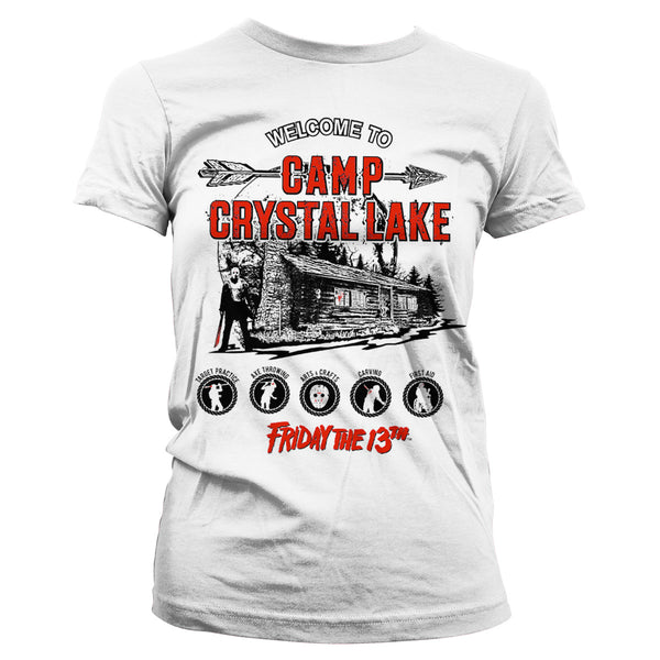 2fe099fa3b0 Friday The 13th- Camp Crystal Lake Womens T-Shirt (White) - Nutees