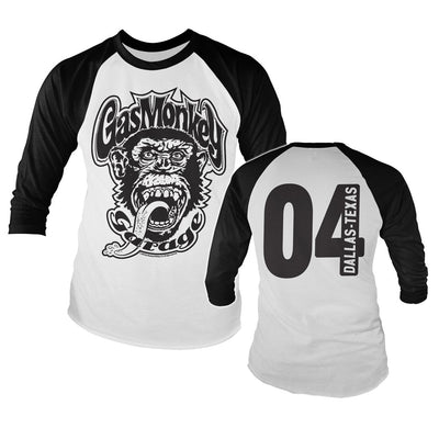 Gas Monkey Garage 04 Baseball Long Sleeve T-Shirt (Black/White)