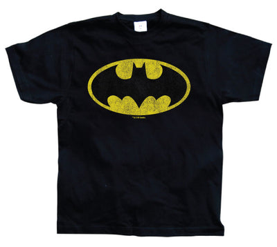 Batman Distressed Logo 3XL, 4XL, 5XL Mens T-Shirt