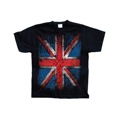 Hot Rod & Bikers Distressed Union Jack Flag T-Shirt