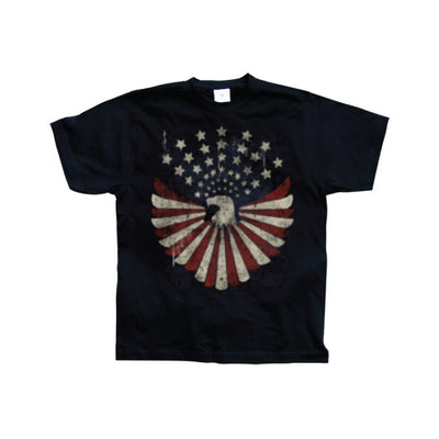 Hot Rod & Bikers Eagle Flag With Stars T-Shirt