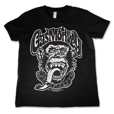 Gas Monkey Logo Kids T-Shirt (Black)