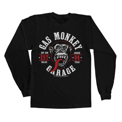 Gas Monkey Garage Round Seal Long Sleeve T-Shirt (Black)