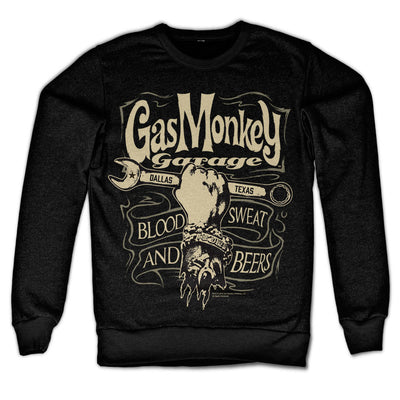 Gas Monkey Garage Wrench Label Sweatshirt (Black)