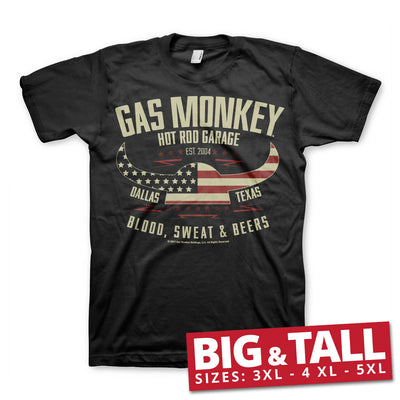 Gas Monkey Garage American Viking 3XL,4XL,5XL Mens T-Shirt
