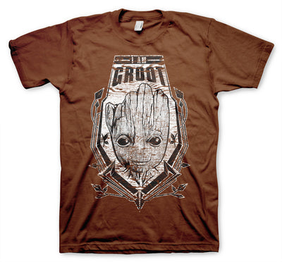The Groot Distressed Shield Mens T-Shirt