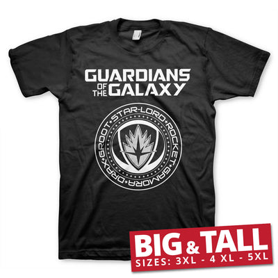 Guardians of The Galaxy Shield 3XL,4XL,5XL Mens T-Shirt