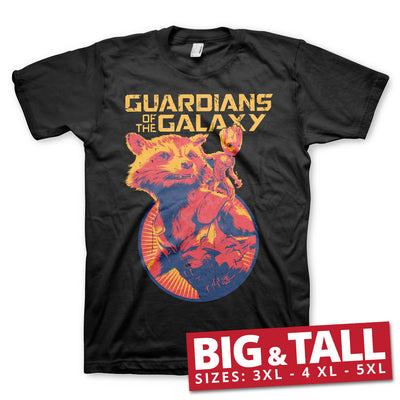 Rocket & Groot 3XL,4XL,5XL Mens T-Shirt