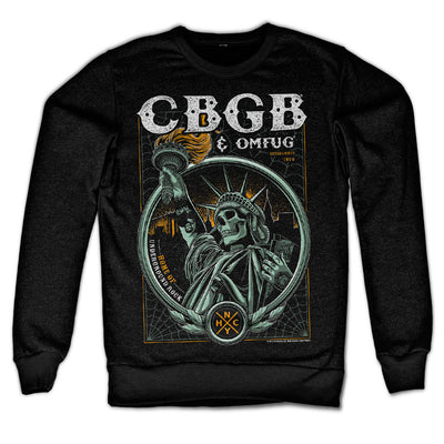 CBGB- Statue of Underground Rock Sweatshirt (Black)