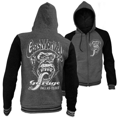 Gas Monkey Garage- Dallas Texas Varsity Zip Hoodie