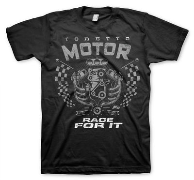 Toretto Motor- Race For It Mens T-Shirt (Black)