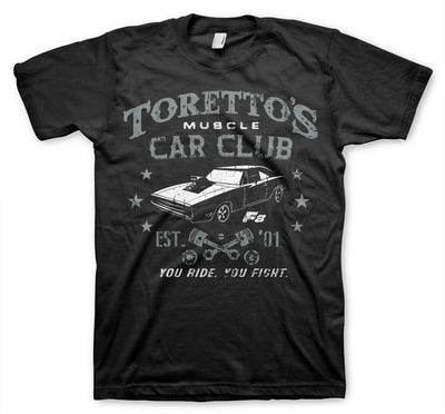 Toretto's Muscle Car Club Mens T-Shirt (Black)