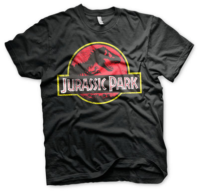 Jurassic Park Distressed Logo Mens T-Shirt